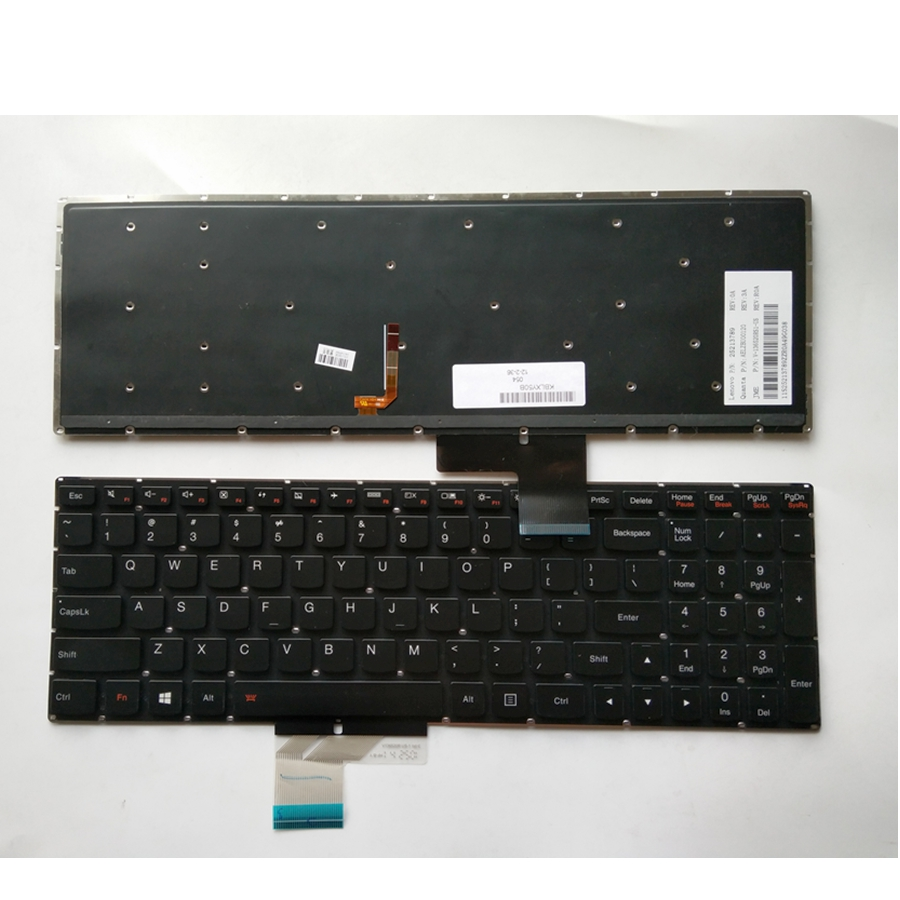 US Keyboard For Lenovo Y50 Y50-70 Y70-70 U530 U530P U530P-IFI Backlit