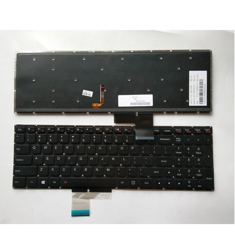 US клавиатура для lenovo Y50 Y50 70 Y70 70 U530 U530P U530P IFI со светодиодной подсветкой-in Замена клавиатуры from Компьютер и офис on