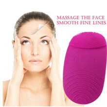 Silicon Vibrate Facial Clean Sonic Brush Face Skin Scrubber Massager Makeup Remover Exfoliator Skin Care Tool Wireless Charger