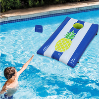 Children Kids Outdoor Water Toys Inflatable Corrnhole Sandbag Throwing Game Beach Party Swimming Ring Pool Float Pool Accessorie