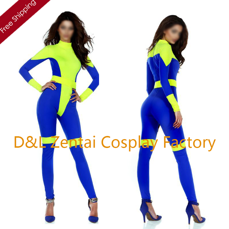 Free Shipping DHL NEW Fancy Dress Womens Pretty Catsuits Lycra Superhero Costume For 2016 Halloween Cosplay Costume SHC1358