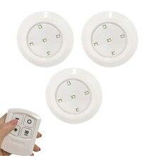 Ночник светодиодный пульт дистанционного управления Управление 5 светодиодный свет шкафа Беспроводной пятно света беспроводной инфракрасный датчик, который крепится в любом месте, нажмите ночные лампы Батарея в комплект не входит