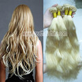"aliexpress uk European real hair Blonde Natural Wave Humano Hair Extension, 16""-26"" 613# Hair Weaving 1 Piece/Lot, hair clips"