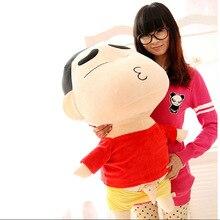 big new plush Crayon Shinchan toy huge red coat Crayon Shinchan doll gift about 100cm 555