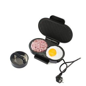 EUプラグインドアミニ電気バーベキューサンドイッチメーカーグリルバーベキューフライパングリルハンバーガー朝食肉ロースターマシン日本バーベキューグリル