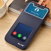 hot deal buy for xiaomi mi 8 8se case luxury flip pu leather phone case for xiaomi mi 8 case cover view window pc back for xiaomi mi 8 se mi8