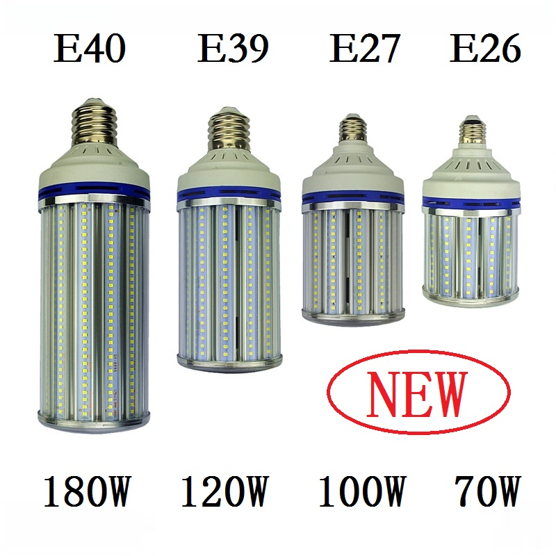 E27 E40 street lighting 70W 100W 120W 180W Spotlight E26 E39 LED Bulb Light Corn Lamp for industrial high bay Warehouse Engineer free shipping e26 e39 100w led corn bulb for post light fixture with etl listed