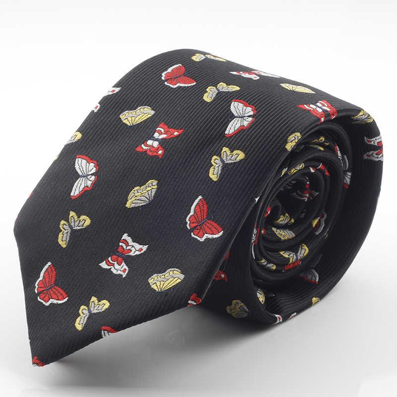 Gusleson nova marca de design dos homens laços de seda jacquard tecer dot gravata 7cm corbatas gravata clássico moda negócios gravata para homem