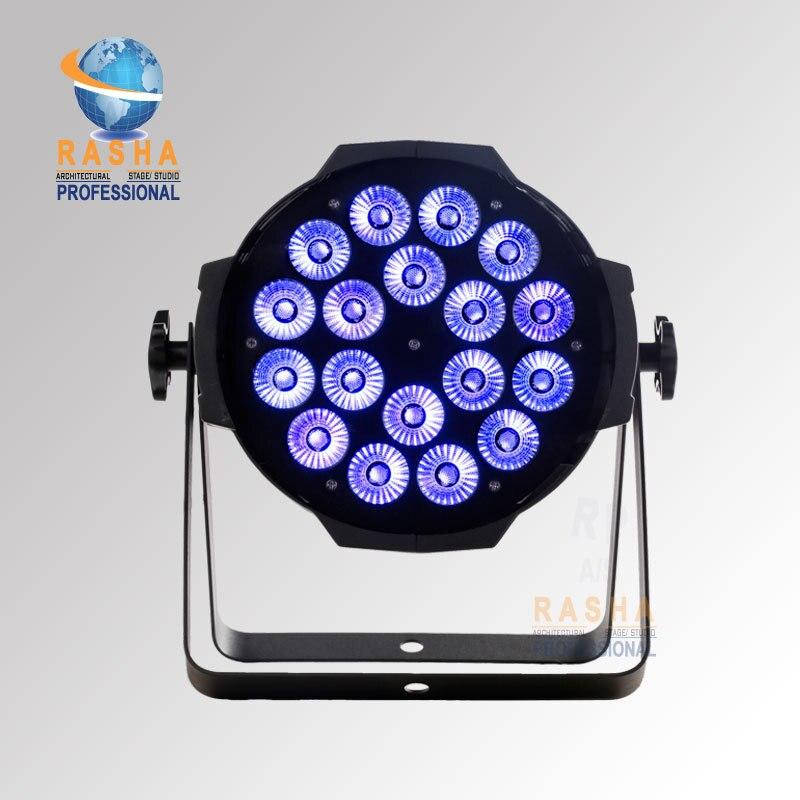 Rasha New Arrival Hot Sale18pcs*18W 6IN1 RGBAW+UV LED Par Light,LED Par Can For Stage Disco Event, UV LED Par 64 Light