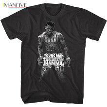 OFFICIAL IMANFIVE Ali Quotes Hologram Men's t-shirt Cassius Clay цена