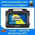 Ouchuangbo android 4.4 gps radio para Kia Sportage 2014 multimedia de audio S160 plataforma OS 1024*600 de alta resolución