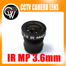 5pcs/lot 3.6mm lens IR MP M12 CCTV Board Lens For CCTV Security IP HD Camera Free Shipping