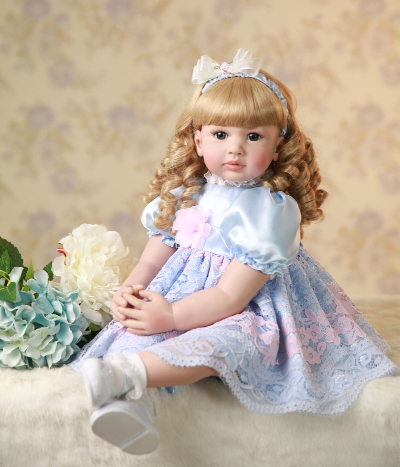 60cm Silicone Reborn Baby Doll Toys 24inch Vinyl Princess Toddler Girl Babies Doll Birthday Gift Play House Toy Like Alive Bebe handmade new model soft vinyl silicone reborn toddler princess girl baby alive doll toys with strap denim skirts birthday gifts