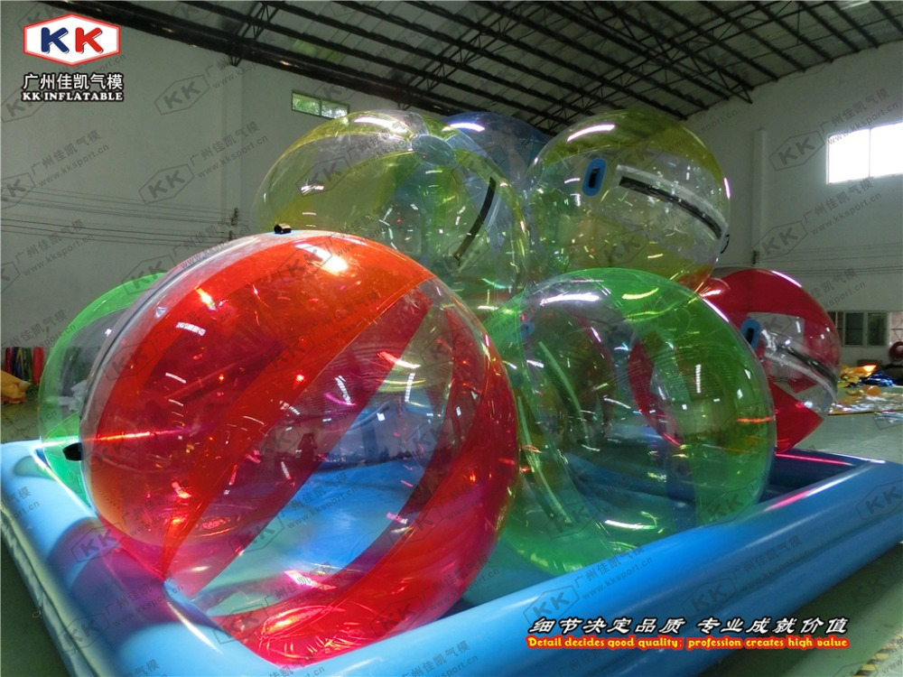 Bon marché boule gonflable de rouleau de bulle d'eau courante de boule de marche de l'eau de TPU/PVC pour des enfants/adulte