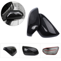 Side Door Rear View Mirror Cover Trim for Toyota Camry 2018 Carbon Fiber Color