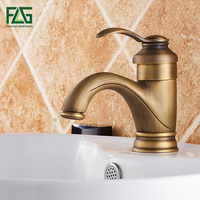 FLG European Aristocratic Basin Faucet Deck Mounted Su Tesisat Sink Mixer Antique Tap Cold and Hot Bathroom Tap Water Mixer M164