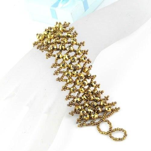 Bohemian beads handmade Wrist wide band friendship bracelet for women summer beach acrylic crystal beaded bracelet femme BR-1202