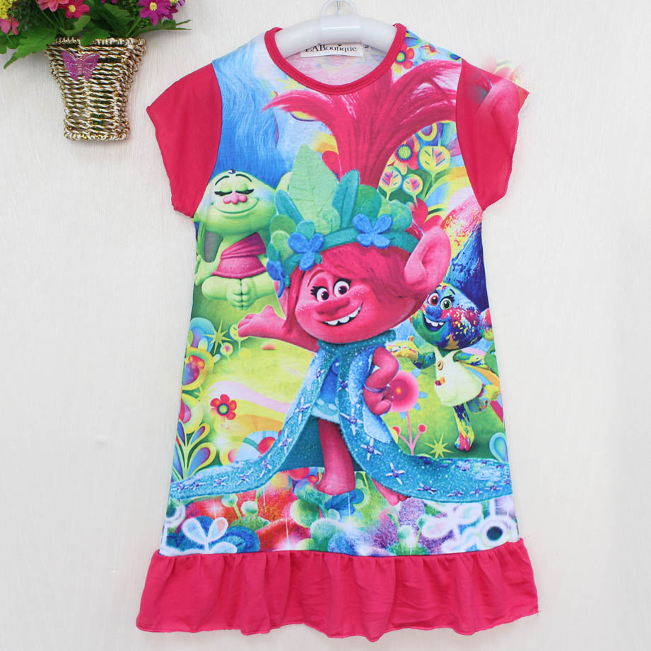 EABoutique-cotton-fabric-girls-dress-cartoon-princess-Moana-Trolls-double-printed-ruffles-style-kids-clothing-for-4-10-year-old-2