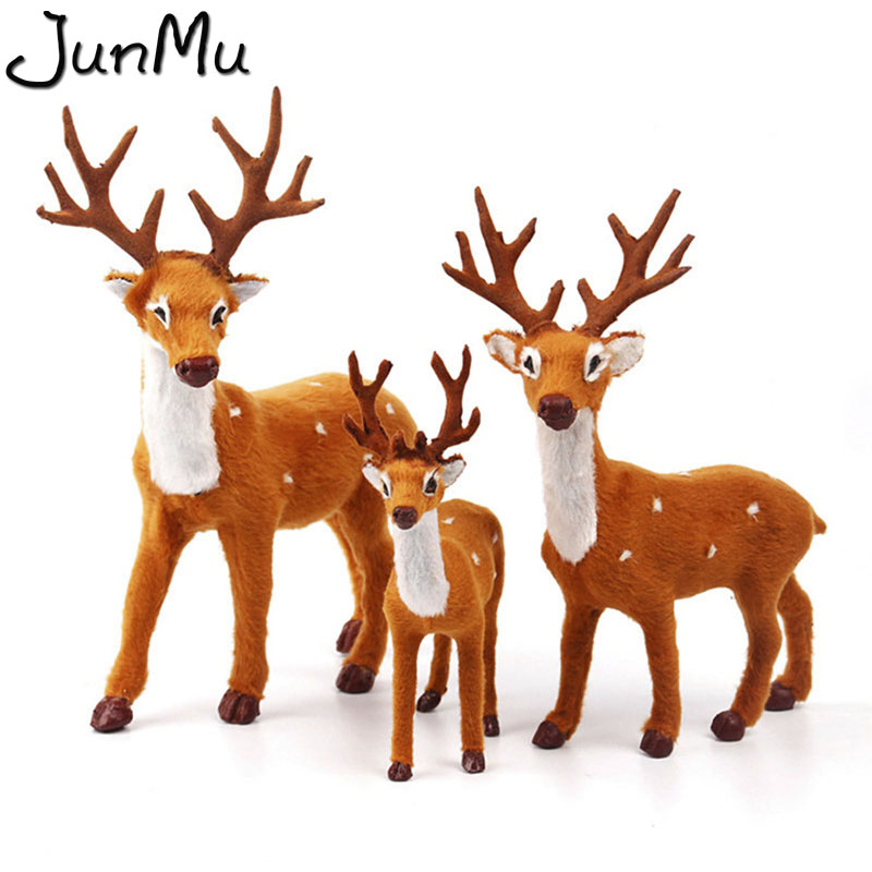 Christmas Raindeer.Us 2 59 40 Off New Plush Christmas Reindeer Xmas Elk Plush Simulation New Year Gift Christmas Decorations For Home 15cm 20cm 25cm In Party Diy