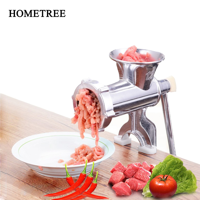 HOMETEE Manual Meat Grinder Household Meat Grinder Sausage Hot Dogs Multi Function Vegetable Chopper Kitchen Accessories