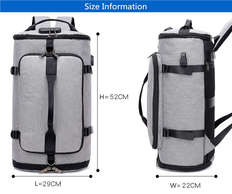 89aa1ca8c49 Smart backpack for travel with anti theft security   stisla