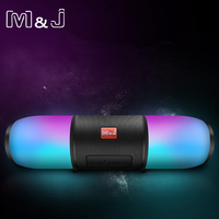 M&J colorful Portable LED Bluetooth Speakers Wireless Small Music Audio TF USB FM Light Stereo Sound Speaker For Phone With Mic