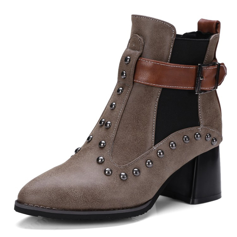 women shoes genuine leather ankle boots for women high heel black zip fashion wedges autumn winter motorcycle boots women autumn winter wedges chunky heel height increase elevator genuine leather buckle zip fashion ankle boots 34 39 sxq0724