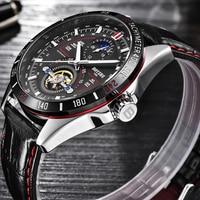 BOYZHE 2019 New Men Automatic Mechanical Watch Mens Sports Luxury Waterproof Luminous Tourbillon Watches Male Relogio Masculino
