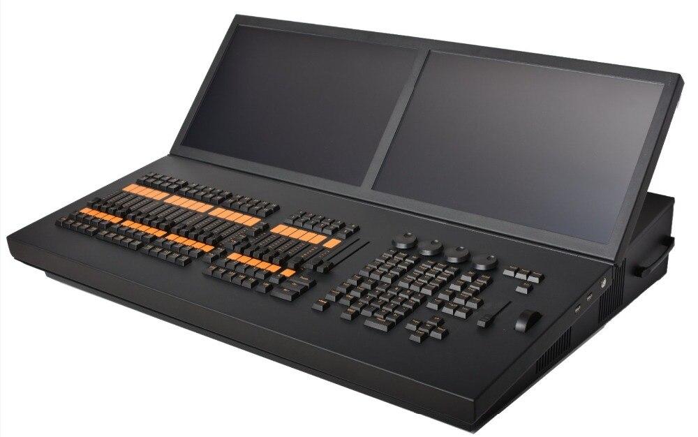 Vendita calda MA regolatore della luce della fase doppio touch screen display dmx dj di illuminazione console grand ma2 in movimento di controllo della luce flycase