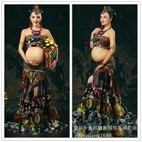 Горячие Для женщин Платья для женщин для беременных фотографии платье Одежда для беременных реквизит для беременных одежда длинный береме