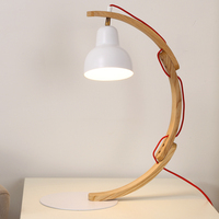 Modern Nordic simplicity opposite sex Indoor lighting Solid wood LED table lamp decoration Bedroom / living room / study E 27