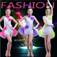 Children S Latin Dance Costume Children S Girls Latin Dance Dress Performance Contest Clothing New Sequins
