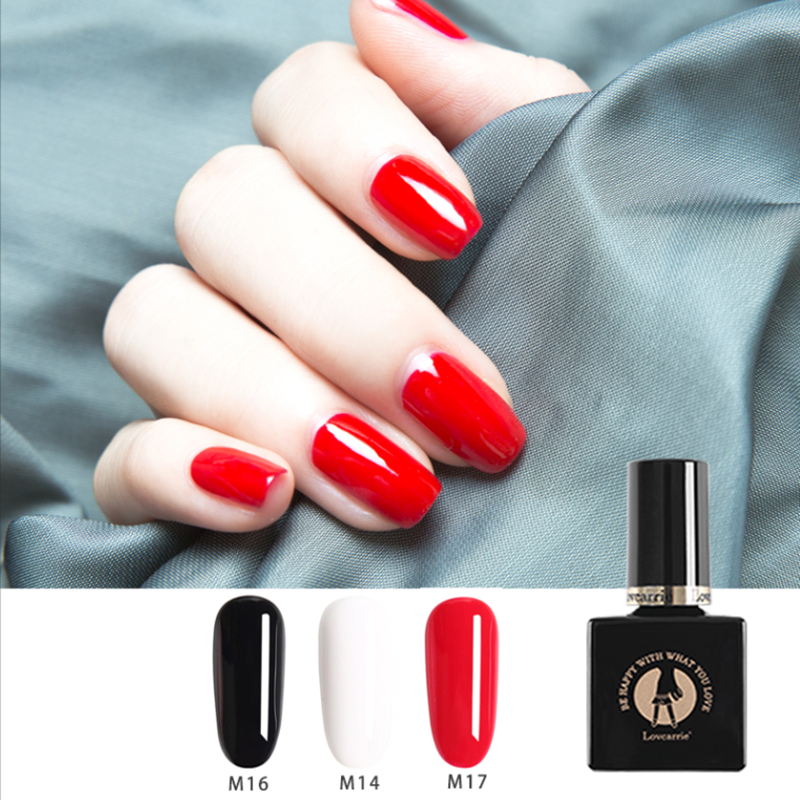 1 PCS Black White Red Nail Gel Polish Soak Off Nude Jelly Rubber Base Coat Top Coat 10ml Neon Gel Paint for Manicure Nail Art in Nail Gel from Beauty Health