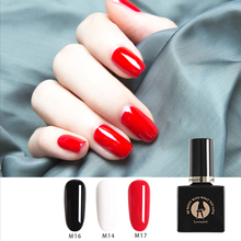 1 PCS Black White Red Nail Gel Polish Soak Off Nude Jelly Rubber Base Coat Top 10ml Neon Paint for Manicure Art