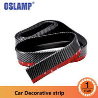 Oslamp 55mm 2.5Meters Car Chrome Decor Strip Sticker Auto Styling Moulding Trim Strip Auto Body Window Exterior Decoration