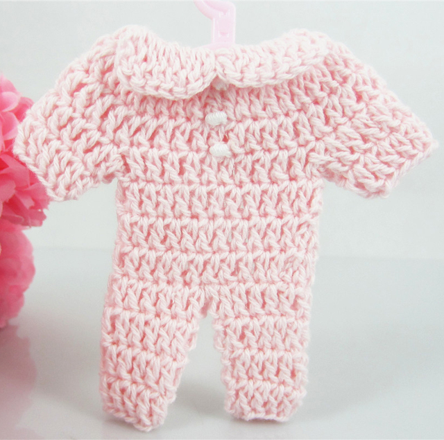 Pink 12pcs 76mm Miniature Crochet Romper For Baby Shower Favors/craft Party  Decorations/props