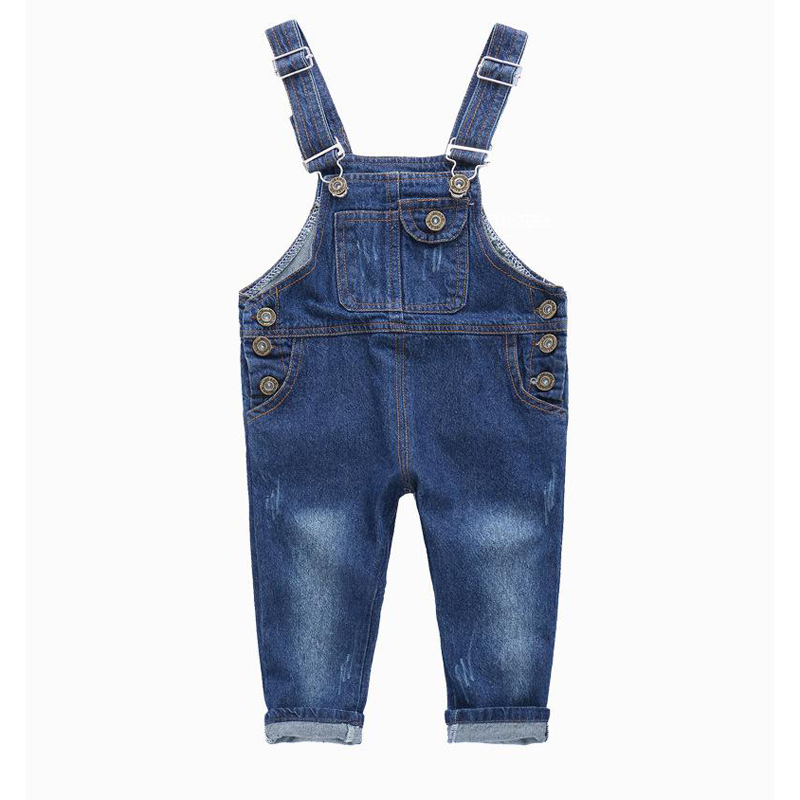 Fashion Kids Denim Jumpsuit 2 3 4 5 6 7 8 9 Years Children Overalls Jeans Spring Summer Autumn Boys Girls Jeans Pants the new spring and summer 2016 korean fashion jeans female hole loose jeans page 6