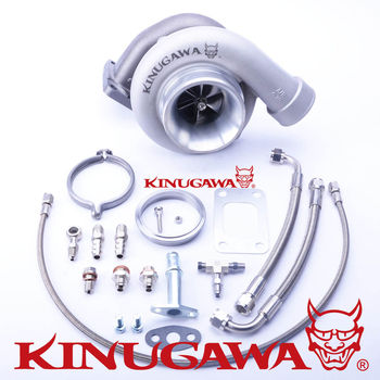 "Kinugawa Ball Bearing Turbocharger 4"" GT3582R 8cm T3 V-Band 4 Bolt External"