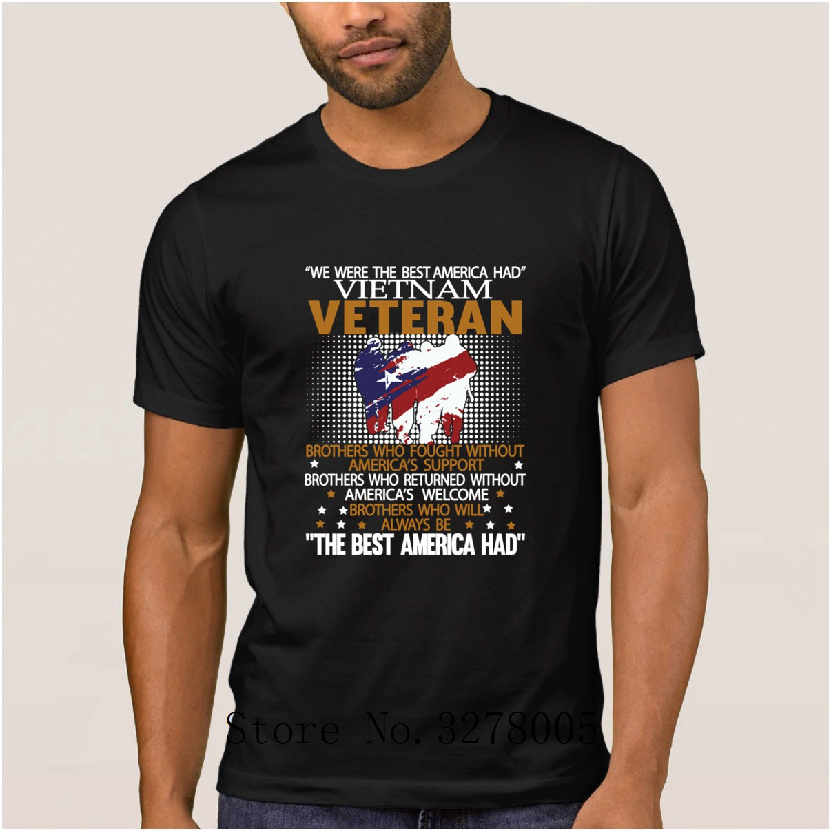 Breathable Mens T Shirt Vietnam Veteran We Were The Best America Had Classic Men's T-Shirt Spring 100% Cotton Tshirt Mens image