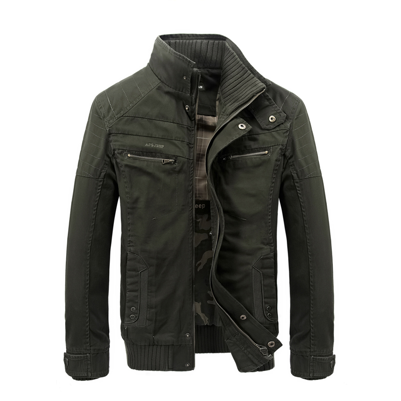 Fashion Italy style jacket men high quality AFS JEEP mens jacket military army green khaki zipper
