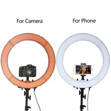Camera Photo Studio Phone Video 55W 240PCS LED Ring Light 5500K Photography Dimmable Makeup Ring Lamp With 200CM Tripod capsaver 2 in 1 kit led video light studio photo led panel photographic lighting with tripod bag battery 600 led 5500k cri 95