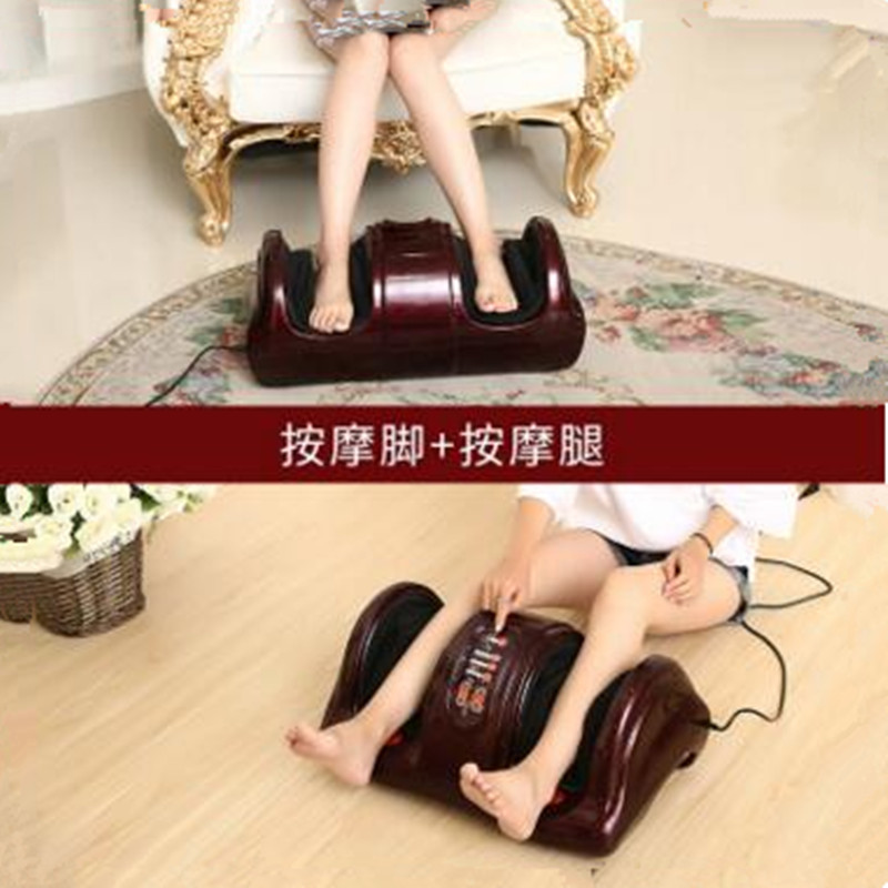Electric Heating Shiatsu Foot Leg Massager Kneading Gua Sha Reflexology Massage device Muscle Stimulator Home Relaxation hfr 8802 3 healthforever brand wireless control kneading device legs instrument electric shiatsu air bag foot massager machine