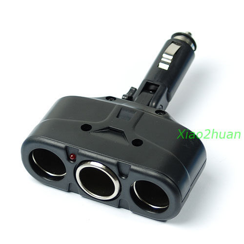 1PC 3 Way 12V Car Cigarette Socket Splitter Auto Adapter Charger Hot Sell