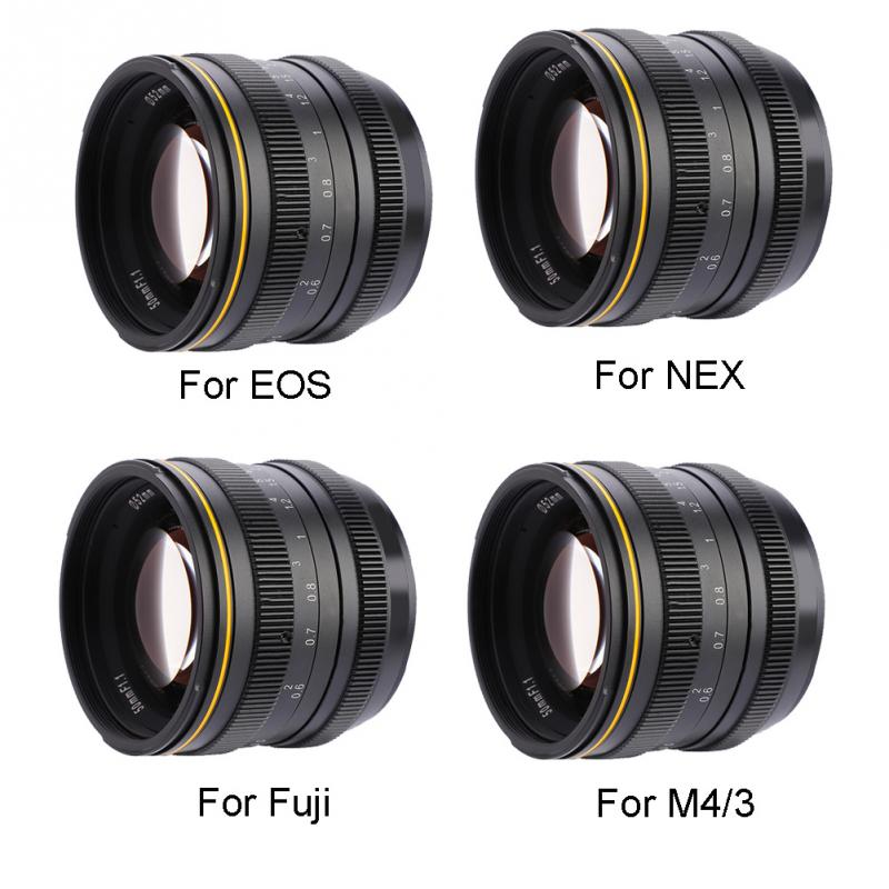 Kamlan 50mm F1.1 APS-C Large Aperture Manual Focus Lens For Canon EOS-M NEX Fuji X M4/3 Mount Camera For Mirrorless Cameras