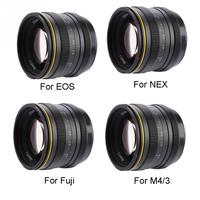 Kamlan 50mm f1.1 APS C Large Aperture Manual Focus Lens for Canon EOS M NEX Fuji X M4/3 Mount camera for Mirrorless Cameras