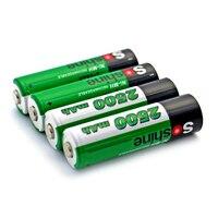 HFES New Soshine 4PCS 2500mAh 1 2V AA Battery NiMH Ni MH Rechargeable Battery With Portable