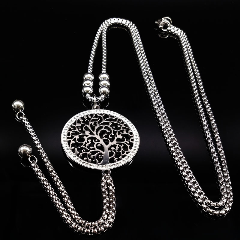 2018 Fashion Tree of Life Stainless Steel Long Necklace Wome
