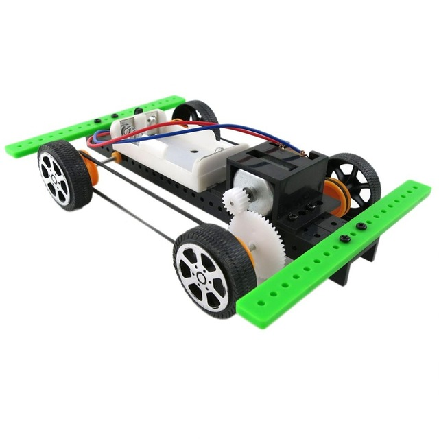 RC מכוניות 1:10 מיני סוללה מופעל רכב דגם ערכת ילדי קיד חינוכי חדש עצמי עצרת DIY צעצוע מתנת שלט רחוק צעצועים