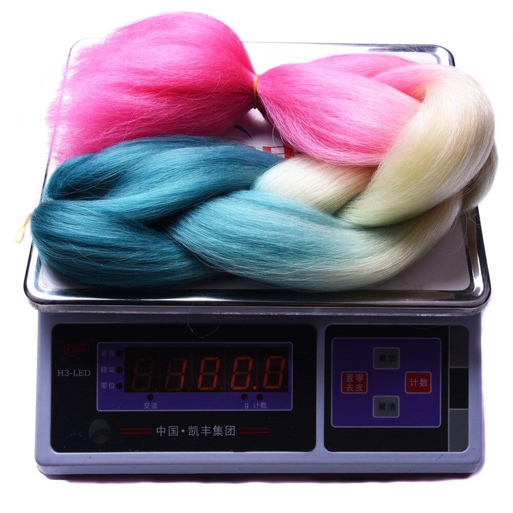 Sallyhair Ombre Braiding Hårförlängningar 2 Tonfärg 1 Pack 24inch - Syntetiskt hår - Foto 4