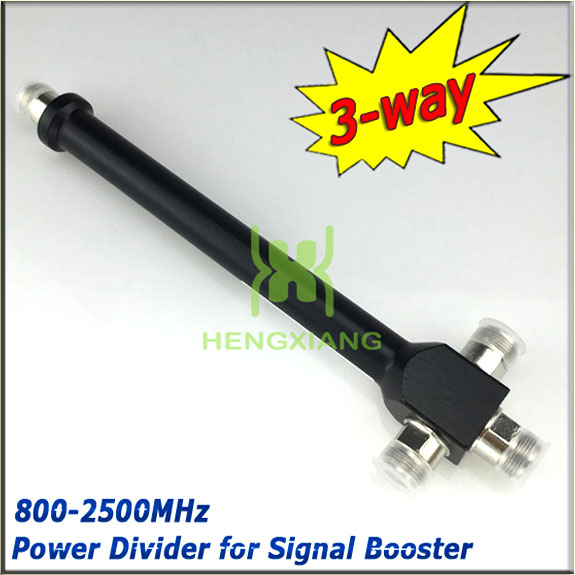 N Female 3 Way Power Splitter Cavity Power Divider 800-2500mhz for 2G 3G GSM W-CDMA Mobile Phone Signal Booster wifi Repeater